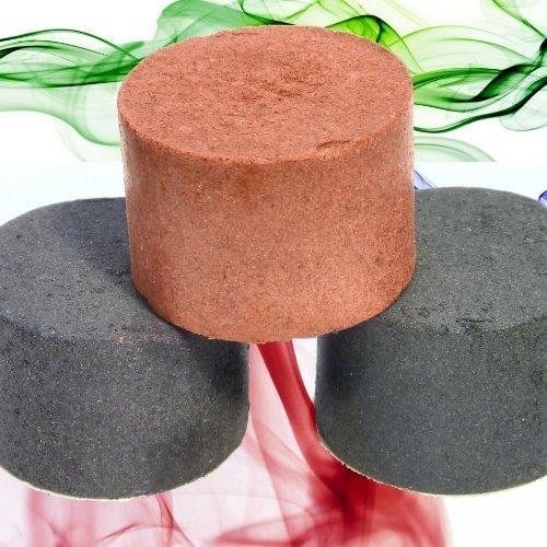 Bombe fumogene grandi colorate, colore: rosso, viola e verde, confezione da 3
