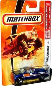 Mattel Matchbox 2008 MBX Outdoor Sportsman 1:64 Scale Die Cast Metal Car # 100 - Metallic Blue Pick Up Truck Chevy Silverado SS