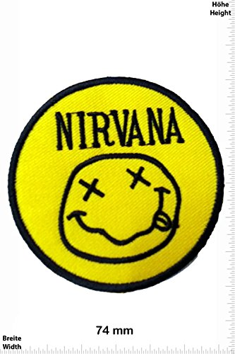 Patch - Nirvana Smiley - Fun Patch - Adult - Chaleco - toppa - applicazione - Ricamato termo-adesivo - Give Away