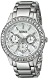 XOXO Women's XO5331  Silver-tone Bracelet With Rhinestones Accent Watch
