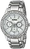 XOXO Women's Tone Bracelet With Rhinestones Accent Watch White XO5331