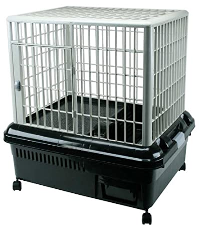 Iris RP-750 Plastic Rabbit Cage, Black/Gray