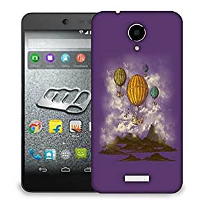 Snoogg Parachute Boats Designer Protective Back Case Cover For MICROMAX Q416