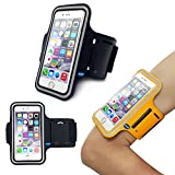 iPhone 6 (4.7 Inch) Sports Armband Case Cover,Nika shop Easy Fitting Sports Universal Armband With Build In Screen Protect Case Cover Running band Stylish Reflective Walking Exercise Mount Sports Sports Rain-proof Universal Armband Case with Key Holder Pocket + Free Screen Protect For Apple iphone6 4.7 inch Verizon, AT&T Sprint, T-mobile, Unlocked(Not Fit iPhone 6 Plus 5.5 inch) (Nika shop-Black)