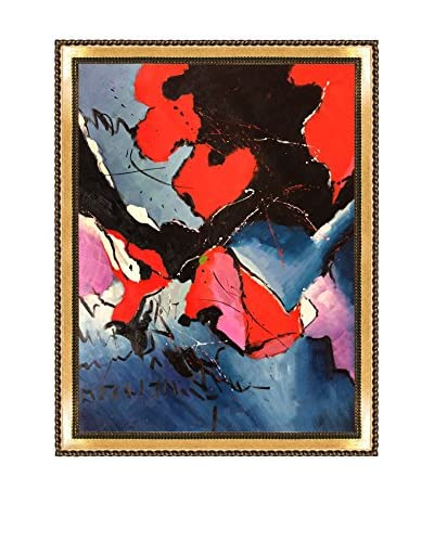 Pol Ledent Abstract 673121 Framed Hand-Painted Reproduction