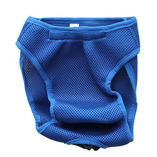 Washable Diaper Cover-Ups Dog Diaper Pet Diapers Wrap Band Nursing ,Royalblue,Small