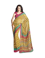 Triveni Fancy Saree With Unstitch Blouse - 5412