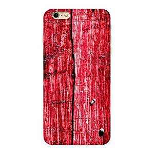 Red Wood Fenced Back Case Cover for iPhone 6 Plus 6S Plus