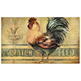 Lang 3200012 Perfect Timing Decorative Floor Mats by Susan Winget, Farmhouse Rooster