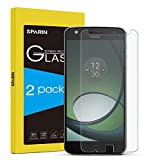 SPARIN [2 PACK] Moto Z Play Screen Protector, Tempered Glass Screen Protector for Moto Z Play Droid 5.5 Inch with [Bubble Free] [Anti-Scratch] [Crystal Clarity]