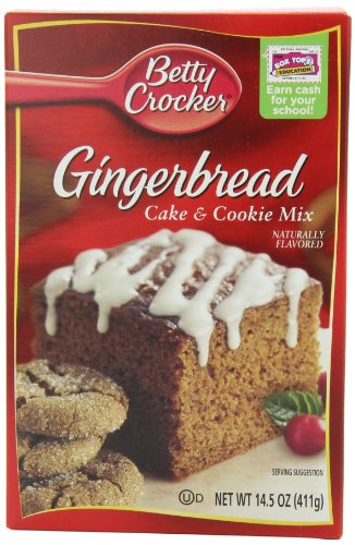 Betty Crocker Gingerbread Cake & Cookie Mix, 14.5-Ounce Boxes (Pack of 12)