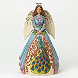 Jim Shore Heartwood Creek Pretty As A Peaceful Soul Angel with Peacock Dress 4040792
