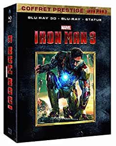 Iron Man 3 [Coffret prestige Iron Man 3 - Blu-ray + Blu-ray 3D + la statuette à monter - Édition exclusive Amazon.fr]