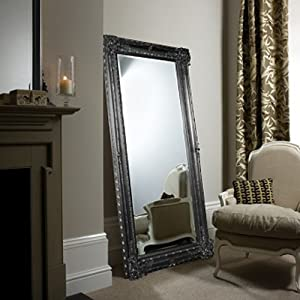 Gallery bodium leaner 68 x 34 inch baroque mirror in for Baroque leaner mirror