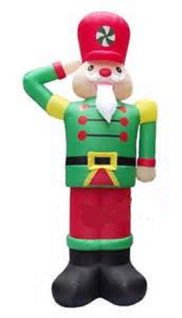 Christmas nutcracker outdoor inflatables for Airblown nutcracker holiday lawn decoration