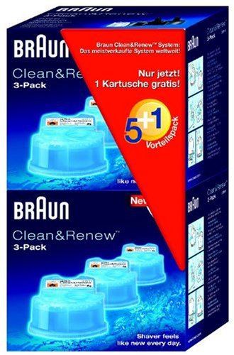 Braun Clean & renew refils - CCR5+1 - Pack of 6 cartridges