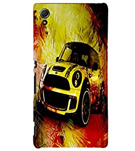 Fuson 3D Printed Car Designer back case cover for Sony Xperia Z3 Plus - D4480