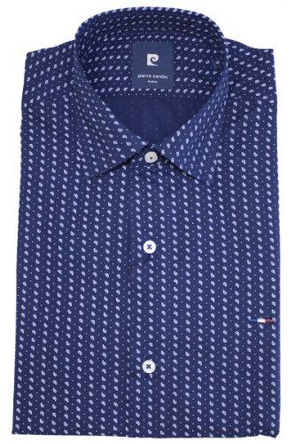 Pierre Cardin - Maglietta sportiva - Camicia  - Classico  - Maniche lunghe  -  uomo blu navy Small