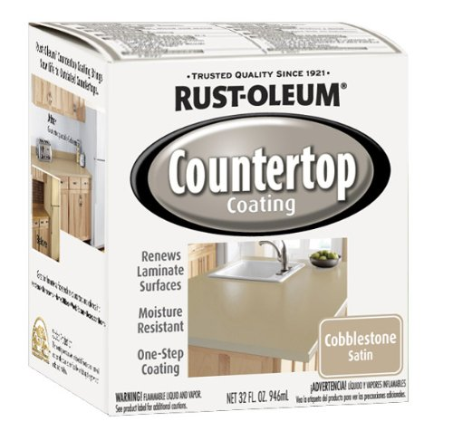 Rustoleum Countertop Paint Amazon : Rust-Oleum 263206 Countertop Coating Premix, 32-Ounce Kit, Cobblestone ...