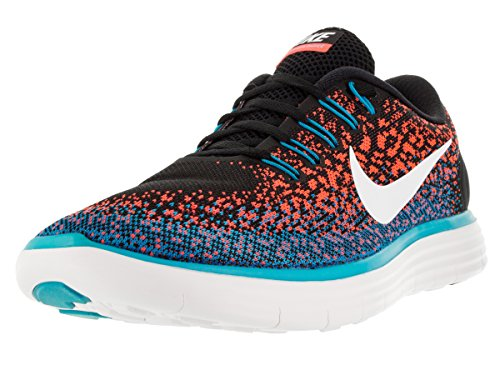 Nike Men's Free Rn Distance Black/White/Hypr Orange/Bl Lgn Running Shoe 9.5 M...