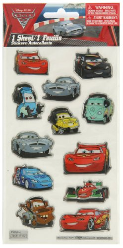 Stickerfitti Cars 2 Epoxy Foil Stickers