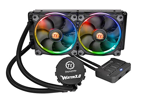 Thermaltake WATER 3.0 Dual Riing RGB High Static Pressure Fans 240 AIO Water Cooling System CPU Cooler CL-W107-PL12SW-A (The Water Cooler Effect compare prices)