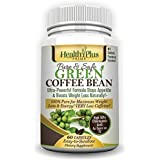 Health Plus Prime Green Coffee Bean Extract 100% Pure & Natural 800mg Serving @ 50% Chlorogenic Acid For Maximum And Healthy Weight Loss!