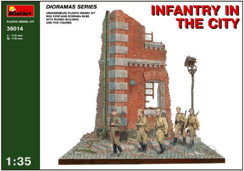 Buy Low Price Dragon Models MiniArt 1/35 Infantry in the City Diorama Base with Figure Set (5 Figures) (B001JD13I0)