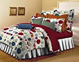 Bellagio Pure Collection Cotton 1 Double Bed Sheet & 2 Pillow Covers (Multicoloured)
