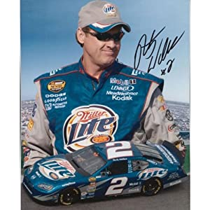 Signed Rusty Wallace Photo - 8x10 - Autographed NASCAR Photos by Sports Memorabilia