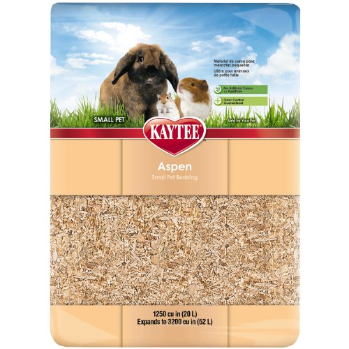 Kaytee Aspen Bedding, 1250 Cubic Inches, Expands to 3200 Cubic Inches