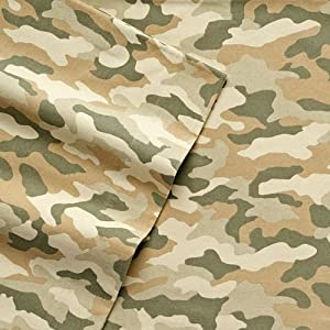Cuddl Duds Camo Flannel Sheet Set - QUEEN Camouflage Sheets