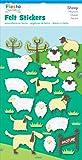 Fiesta Crafts Sheep Felt Stickers Pack of 6
