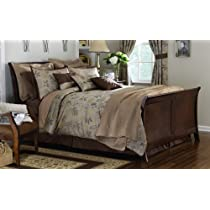 Luxurious Woodland Comforter Set W/ Fall Leaf Design By Collections Etc