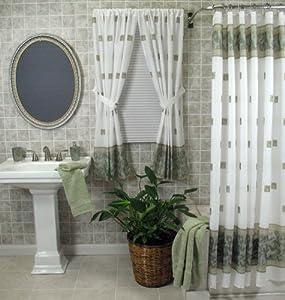 Amazon.com: Windsor Shower Curtain Color: Jade: Home & Kitchen
