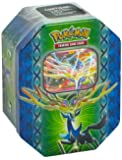 """Pokemon Tin Leggende di Kalos Xerneas-EX o Yveltal-EX (solo la Tin indicata nella """" condizione """")"""