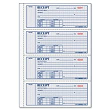 Money Receipt Bk,3-Part,100 Sets,Detached Size 2-3/4x7