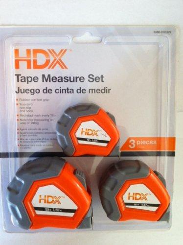 Hdx Tape Measure Set- 3 Pack
