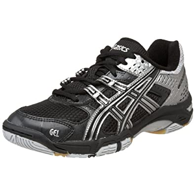 ASICS Women's GEL-Rocket 5 Volleyball Shoe,Black/Silver,6 M US