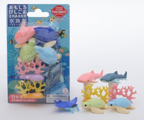 Iwako Erasers - Aquarium Under the Sea (Blister Pack)