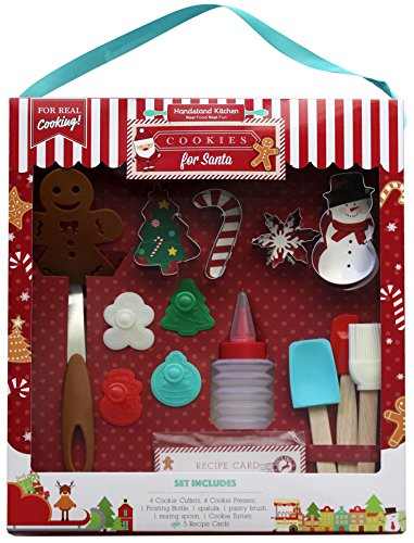 Handstand Kitchen 18-piece Cookies for Santa Baking Set for Kids