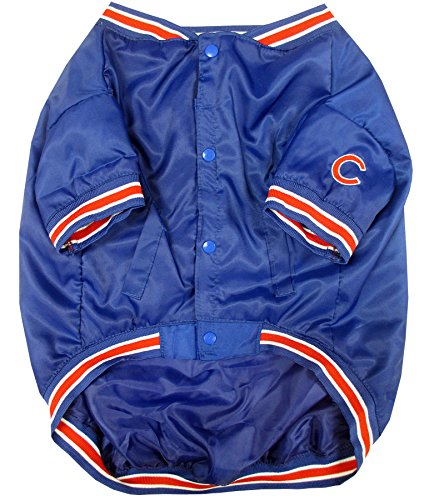 Pets First MLB Chicago Cubs Dugout Dog Jacket, Small