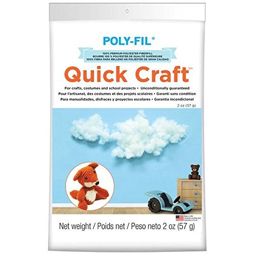 Fairfield PF2QC 2-Ounce Quickcraft Polyester Fiber Fill, White by Fairfield