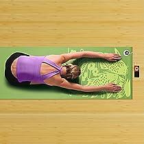 Gaiam Audio Yoga Mat (Green Koi Fish)