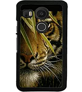 ColourCraft Tiger Look Design Back Case Cover for LG GOOGLE NEXUS 5X