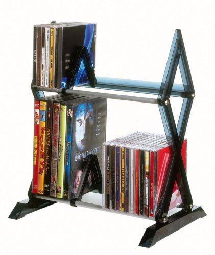 Atlantic Mitsu 64835193 52 CD/36 DVD/BluRay/Games 2-Tier Media Rack Smoke (Media Racks compare prices)
