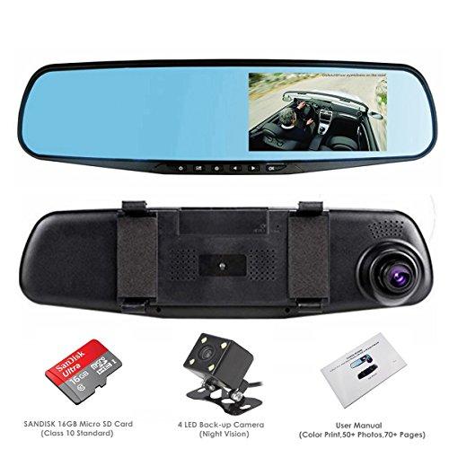 dash cam oumaxrv43hd dual lens car camera car video recorder for vehicles front and rear dvr. Black Bedroom Furniture Sets. Home Design Ideas