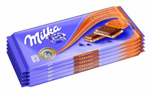 Milka Caramel 5er, 1er Pack (5 x 100g)