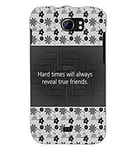 PrintDhaba Quote D-4686 Back Case Cover for MICROMAX A110Q CANVAS 2 PLUS (Multi-Coloured)
