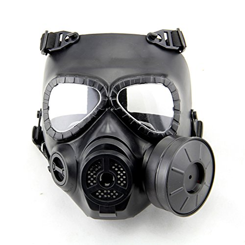 [FaithYoo Airsoft Paintbal Dummy Gas Mask Fan for Cosplay Protection Zombie Soldiers Halloween Masquerade Resident Evil Antivirus] (Full Face Gas Mask Costume)